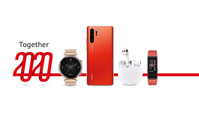 ของขวัญส่งท้ายปี! สมาร์ทโฟน 7 รุ่นสุดฮิต ลด 7% กับแคมเปญสุดเจ๋ง Huawei Together 2020
